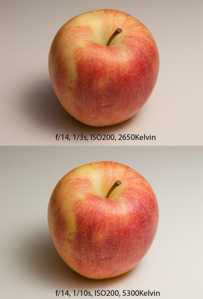 Bilder med lågenergilampa 5500 kelvin